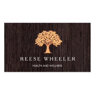 Orange Tree Logo Lifestyle Coach Holistic Health Double-Sided Standard Business Cards (Pack Of 100)