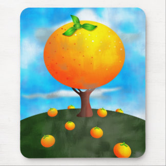 Orange Tree Mouse Pad