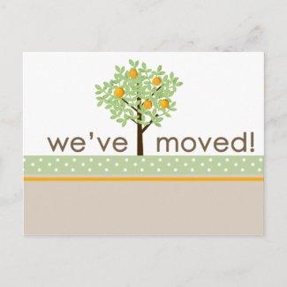 Orange Tree New Address Postcard