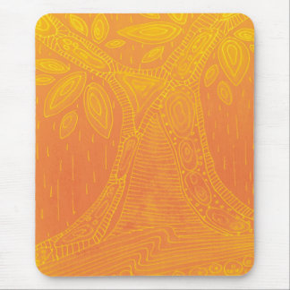 Orange tree pattern mouse pad