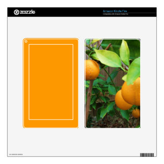 Orange Tree Decal For Kindle Fire