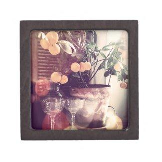 "Orange Tree Small (2"" x 2"") Premium Keepsake Box"