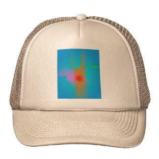 Orange Tree Trunk and the Light Blue Sky Trucker Hat