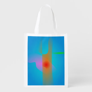Orange Tree Trunk and the Light Blue Sky Market Tote