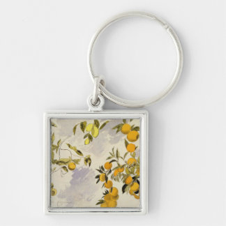 Orange Trees, 1863 (w/c, pen and ink over graphite Keychain