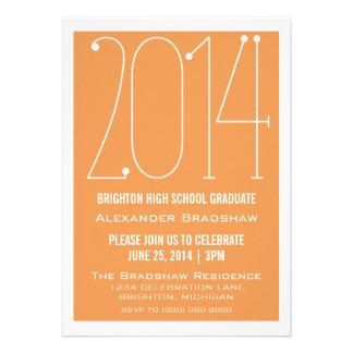Orange Trendy 2014 Graduation Invitation
