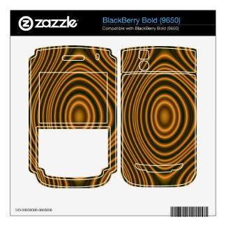 orange trendy pattern BlackBerry bold skin