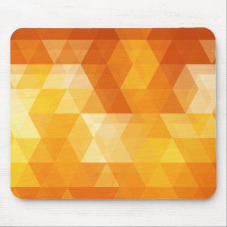 Orange triangle art mouse pad