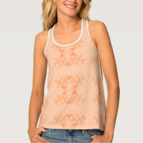 Orange Triangle Pattern Tank Top