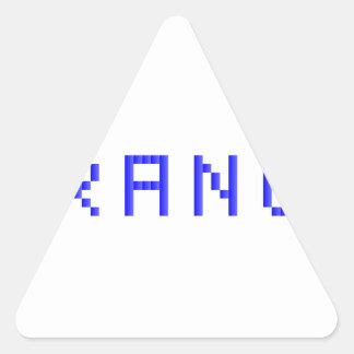 orange triangle sticker