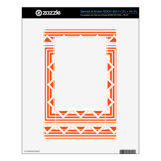 Orange Triangles and Lines Decals For NOOK