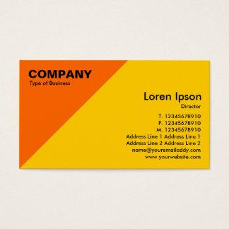 Orange Triangular Corner - Amber (FFCC00) Business Card