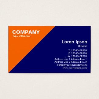 Orange Triangular Corner - Dark Blue (000066) Business Card
