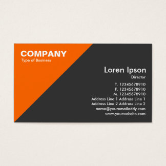 Orange Triangular Corner - Dark Gray Business Card