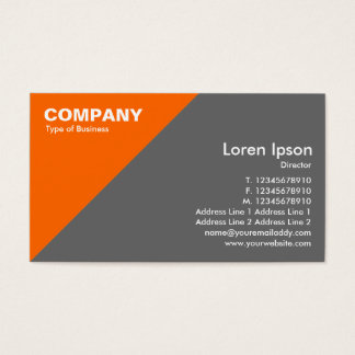Orange Triangular Corner - Mid Gray (666666) Business Card