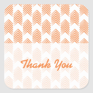 Orange Tribal Arrows Thank You Stickers