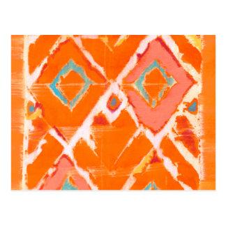 Orange Tribal II Postcard