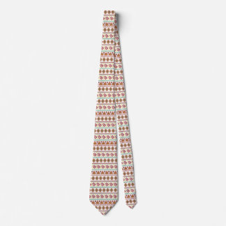 Orange Tribal Style Tie