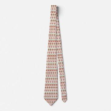 Aztec Themed Orange Tribal Style Tie