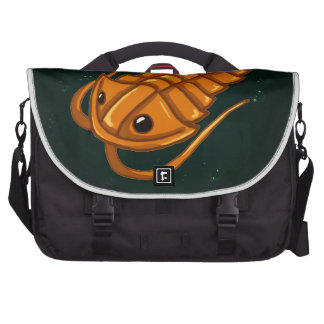 Orange Trilobite Laptop Commuter Bag