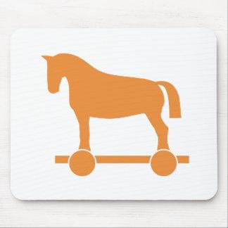Orange Trojan Horse Mousepads