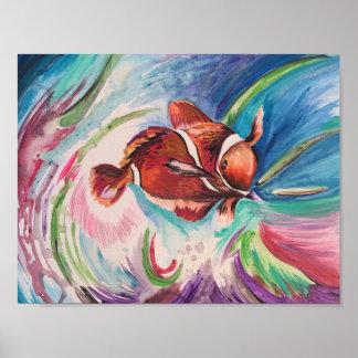 Orange Tropical Fish Poster