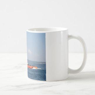Orange Tug Boat Coffee Mug