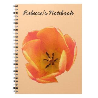 Orange Tulip Customizable Notebook