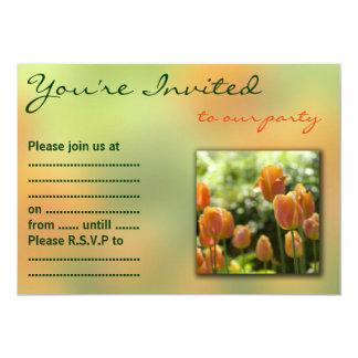 Orange Tulip Flowers Card