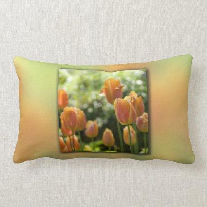 Orange Tulip Flowers Pillows
