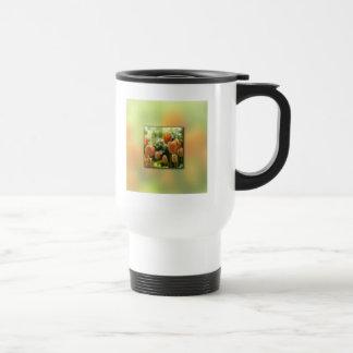 Orange Tulip Flowers Travel Mug