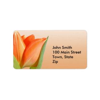 Orange Tulip Labels