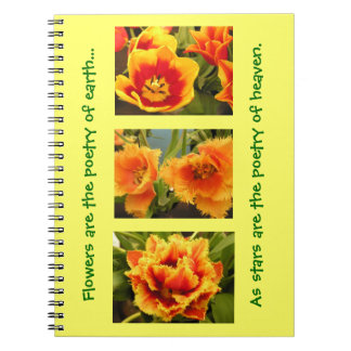Orange Tulip Notebook
