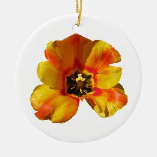Orange Tulip Personalized Ornament