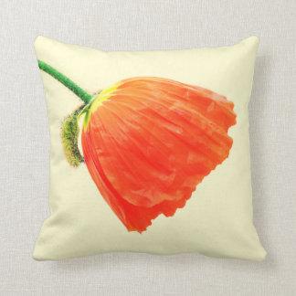 Orange tulip throw pillows