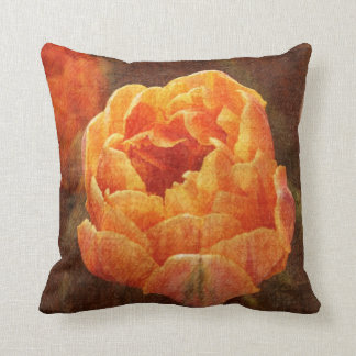 Orange tulip toss pillow
