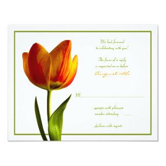 Orange Tulip Wedding Reply Card
