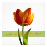 Orange Tulip Wedding Save the Date Announcement