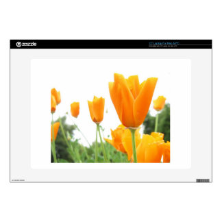 "Orange Tulips 15"" Laptop Decals"