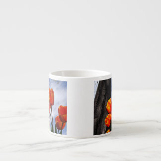 Orange Tulips 2 Espresso Cup