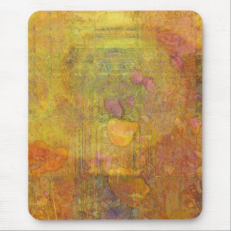 Orange Tulips Abstract Mouse Pad