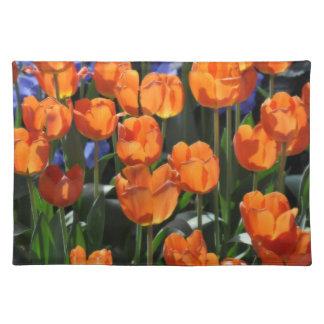 Orange Tulips American MoJo Placemat