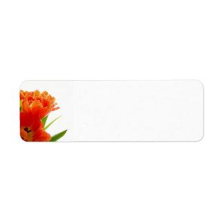 Orange Tulips Avery Return Address Labels