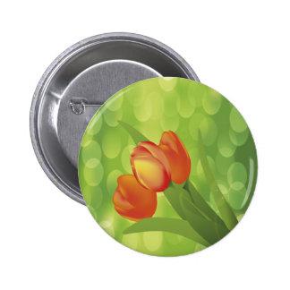 Orange Tulips Button