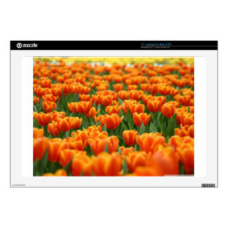 "Orange Tulips Decal For 17"" Laptop"