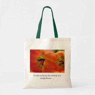 Orange Tulips in Bloom Tote Bag