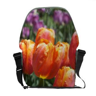Orange Tulips Messenger Bag