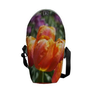 Orange Tulips Messenger Bag -SM