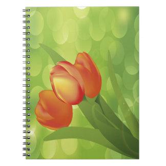 Orange Tulips Notebook