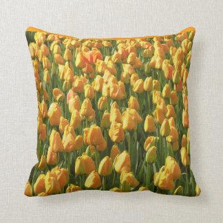 Orange Tulips Throw Pillows